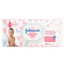 Johnson's Baby Gentle All Over Wipes 56 Pieces