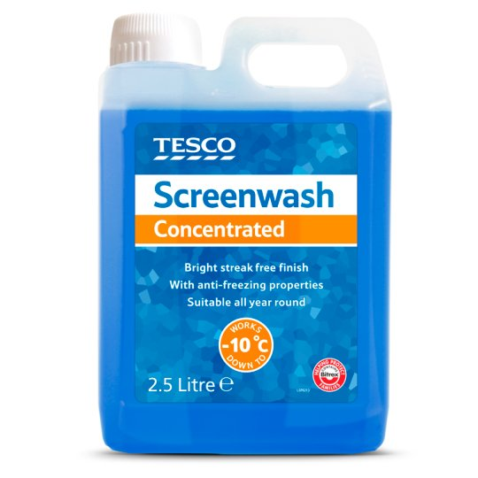 Tesco Screenwash Concentrated 2.5L