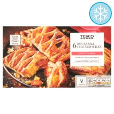 Tesco 6 Rhubarb And Custard Slices 360G