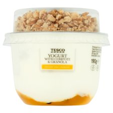 Tesco Greek Style Yogurt Mango Passion Fruit Granola 190G