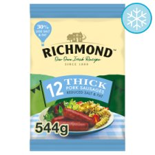 Richmond 12S Thick Reduced Salt And Fat Sausages 544G