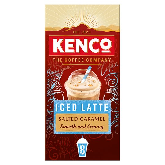 image 1 of Kenco Instant Iced Salted Caramel Latte 8X21g