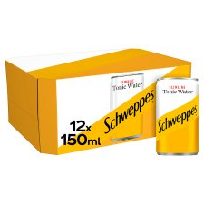 Schweppes Low Calorie Tonic Water 12 X 150Ml
