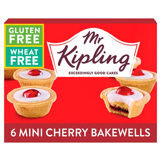 Mr Kipling Free From Cherry Bakewells 6 Pack