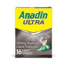 Anadin Ultra Caps 200Mg 16S