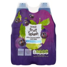Tesco Fruit Splash Apple And Blackcurrant 4X250ml