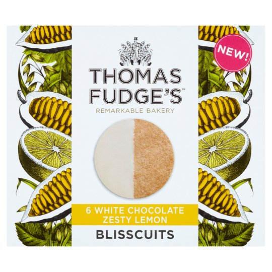 image 1 of Thomas Fudge's White Chocolate Lemon Blisscuits