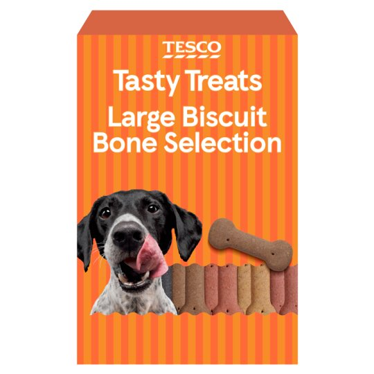 Tesco Biscuit Bones Large Bite Selection Dog Treats 1.2Kg