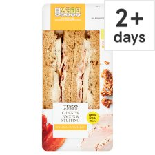 Tesco Roast Chicken Bacon And Stuffing Sandwich