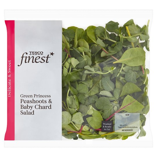 Tesco Finest Green Peashoot And Baby Chard. Salad 70G