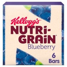 Kelloggs Nutrigrain Blueberry 6 X37g