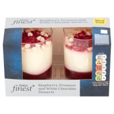 Tesco Finest Raspberry Prosecco And White Chocolate Pot 160G