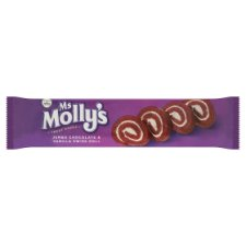 Ms Mollys Jumbo Chocolate And Vanilla Swiss Roll