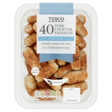 Tesco 40 Cooked Pork Cocktail Sausages 372G