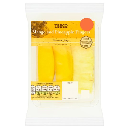image 1 of Tesco Mango And Pineapple Fingers 80G