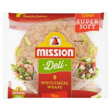 Mission Deli Wholemeal Wraps 8 Pack