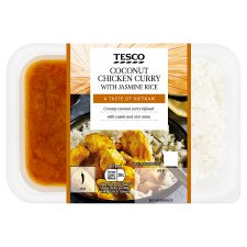 Tesco Coconut Chicken Curry With Jasmine Rice 450G