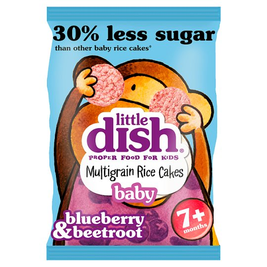 Little Dish Bl/Berry& Beetroot Rice Cakes 40G