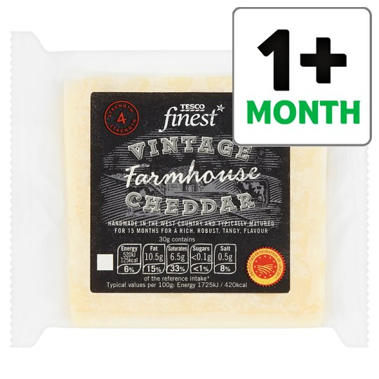 Tesco Finest Vintage Farmhouse Cheddar 320G