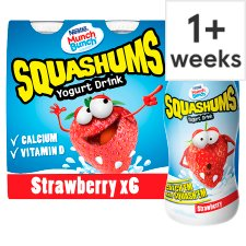 Munch Bunch Squashum Strawberry Yogurt Drink 6 X90g
