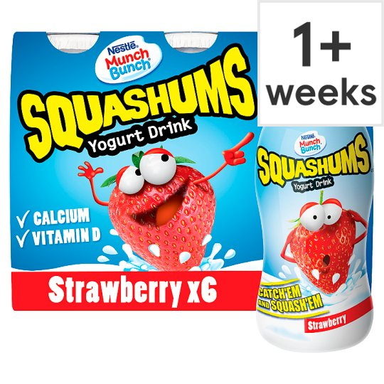 Munch Bunch Drinky Strawberry 6X90g