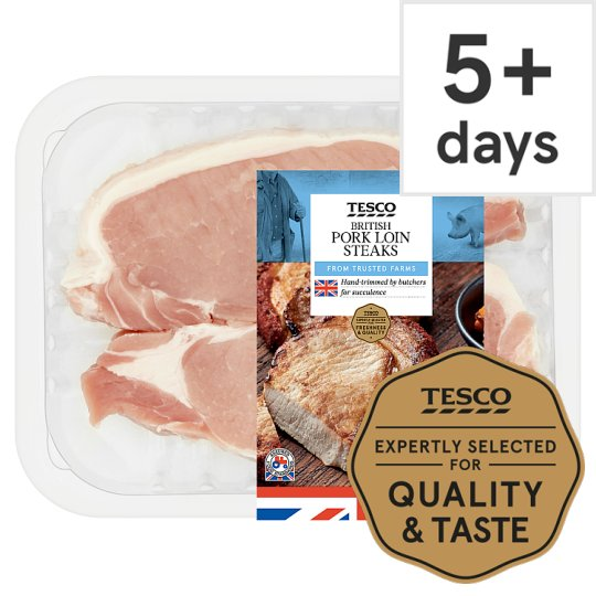 Tesco Pork Loin Steaks 2 Pack 270G