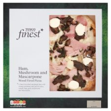 Tesco Finest Ham Mushroom And Mascarpone Pizza 462G