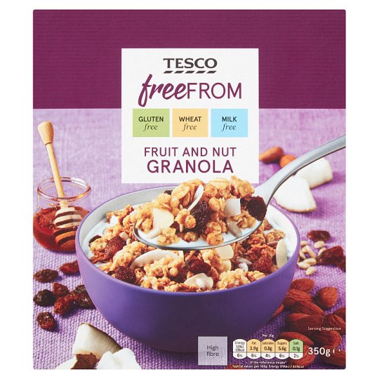 Tesco Free From Fruit And Nut Granola 350G
