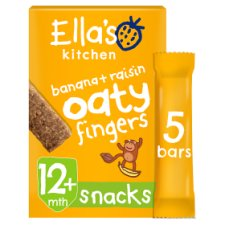 image 1 of Ella's Banana And Raisin Nibbly Fingers 5 X 25G