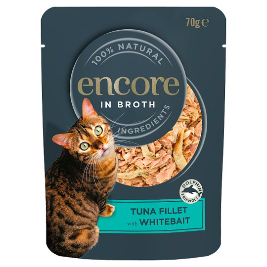 Encore Cat Food Tuna And Whitebait Pouch 70G
