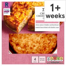 Tesco Crustless Cheese And Bacon Quiche 340G