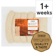 Tesco Bratwurst Sausages 6 Pack, 540G