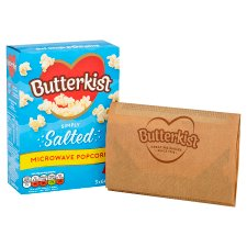 image 2 of Butterkist Microwave Salted Popcorn 3X60g