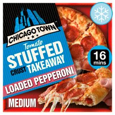 Chicago Town Medium Takeaway Pepperoni Pizza 490G