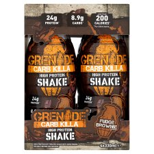 Grenade Carb Killashake Fudge Brownie 4X330ml