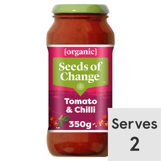 Seeds Of Change Tomato And Chilli Pasta Sauce 350G