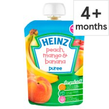 Heinz Fruit Pouch Peach Mango And Banana 100G