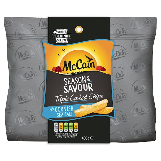 Mccain Season And Savour Sea Salt Chips 400G