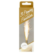 Flaming Cake Fountains 3 Pack