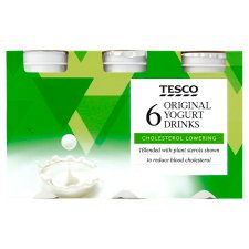 Tesco Cholesterol Reducing Original Yogurt Drink 6 X100g