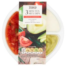 Tesco 3 Mini Tex Mex Dips 210G