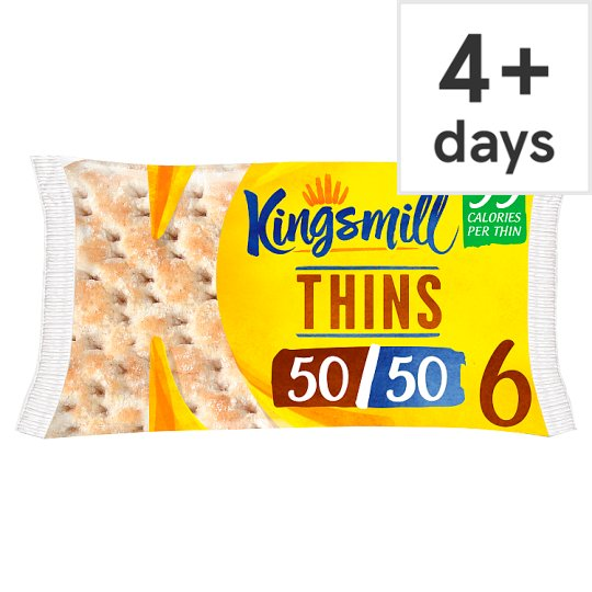 image 1 of Kingsmill 50/50 Sandwich Thins 6 Pack