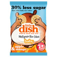 Little Dish Apple And Mango Rice Cakes 40G