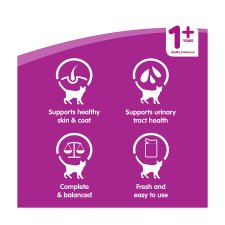 image 2 of Whiskas 1+ Cat Food Pouches Poultry in Gravy 12x100g