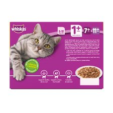 image 4 of Whiskas 1+ Cat Food Pouches Poultry in Gravy 12x100g