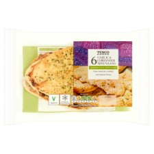 Tesco 6 Garlic And Coriander Mini Naan Bread 300G