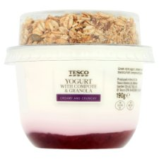 Tesco Greek Style Strawberry And Blackcurrant Granola 190G