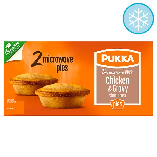 Pukka 2 Chicken And Gravy Shortcrust Microwave Pies