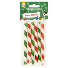 Wagtastic Santa Straws Dog Treats 6 Straws