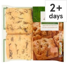 Tesco Rosemary And Sea Salt Focaccia 200G